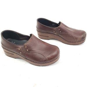 Dansko Brown Leather Clogs Size 39